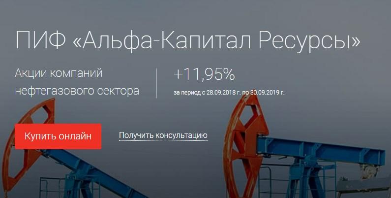 ПИФ Альфа Капитал Ресурсы
