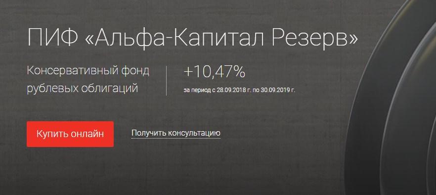 ПИФ Альфа Капитал Резерв