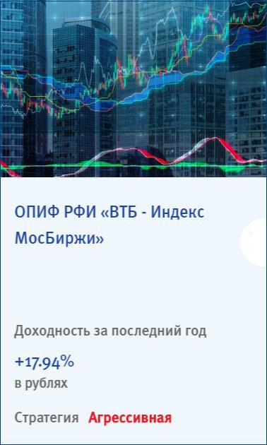 ПИФ Индекс Мосбиржи УК ВТБ Капитал управление активами