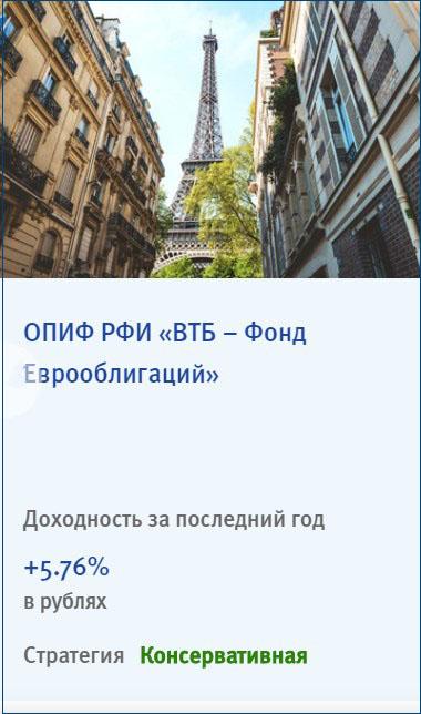 ПИФ ВТБ Еврооблигации