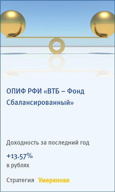 ПИФ ВТБ Фонд Сбалансированный
