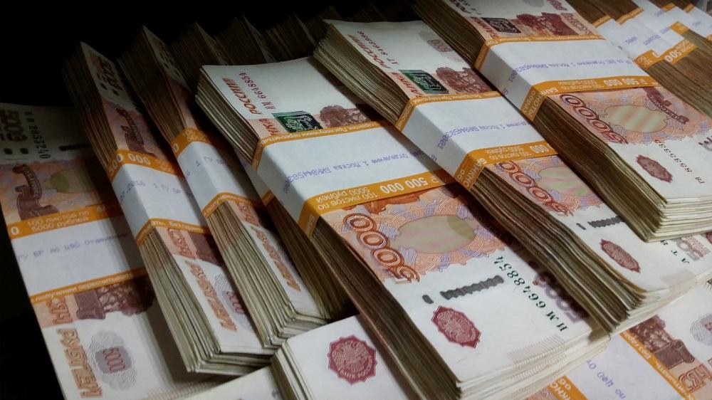 Большое количество рублей
